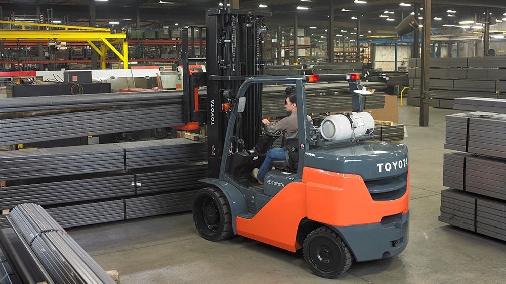forklift for manufacturing operation