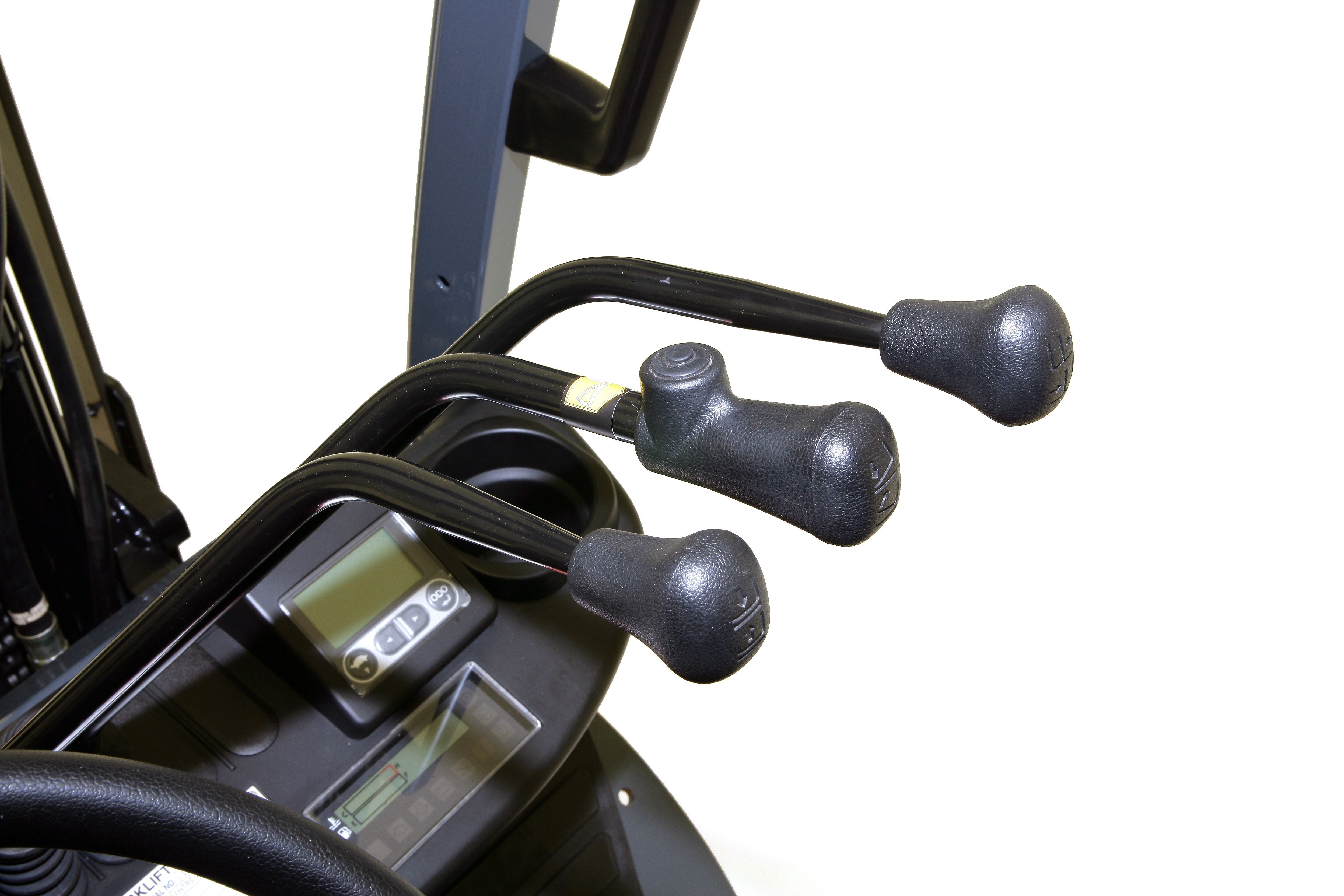 Close-up photo of controls for Toyota forklift