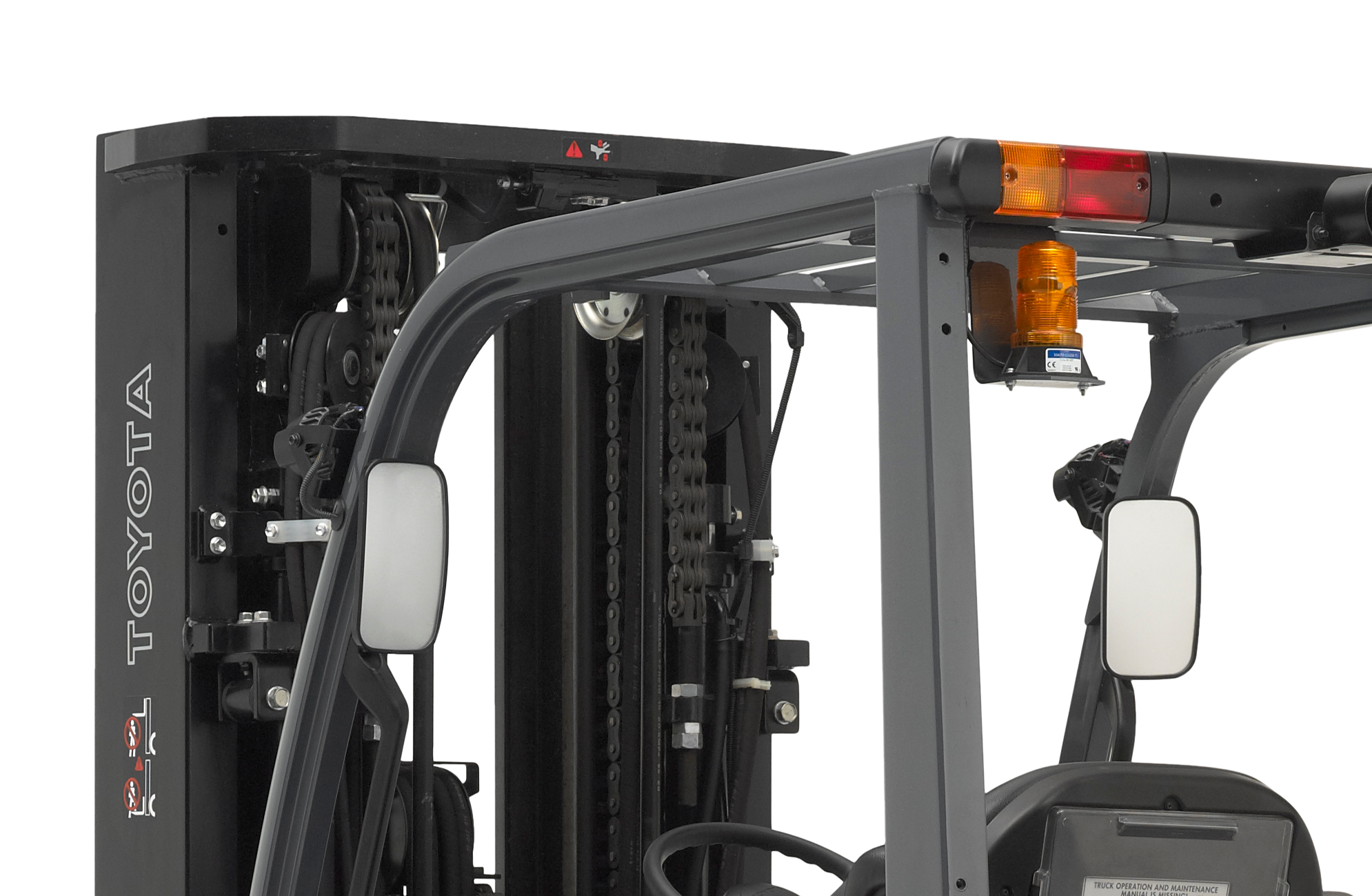 Close-up photo of the top half of Toyota's Mid IC Pneumatic Forklift.