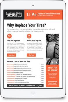 Forklift Tire Tips