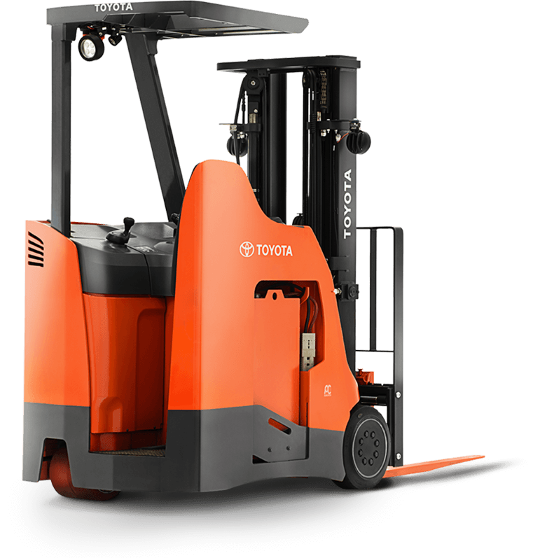 Toyota Stand Up Riding Forklift for tight spaces