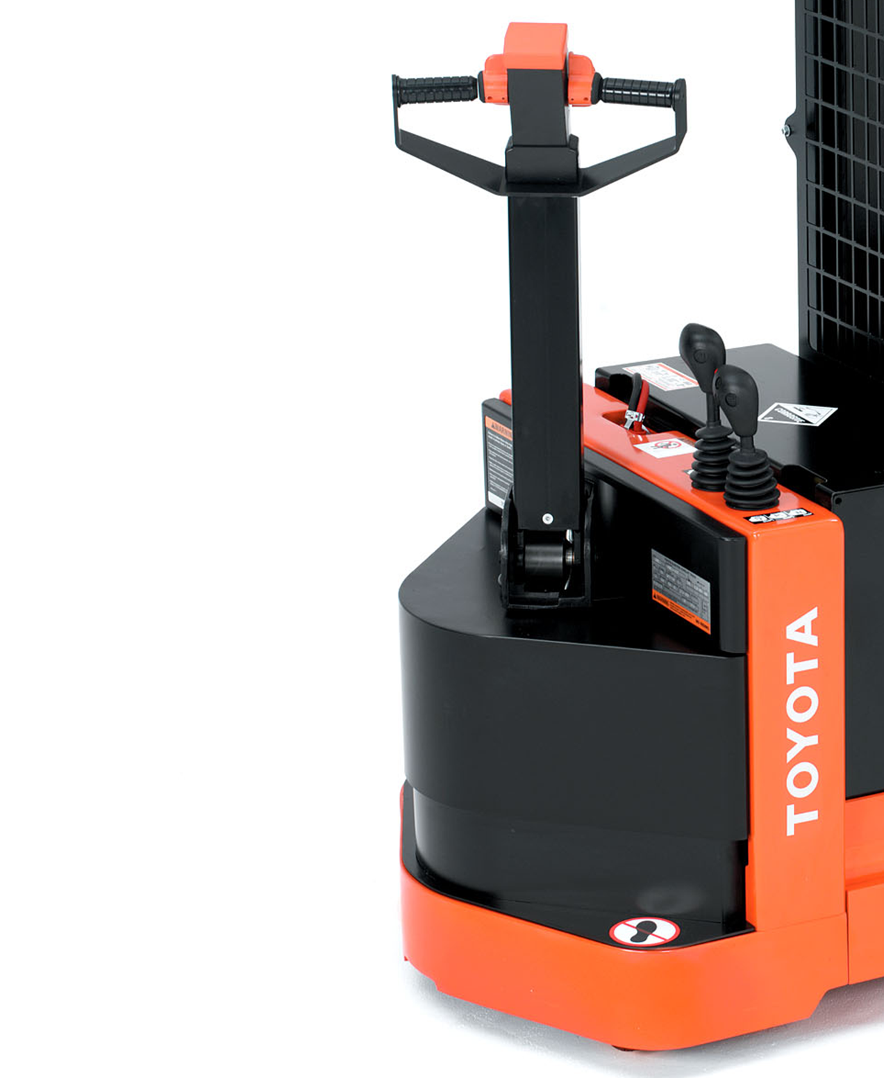 Close-up image of Toyota's Walkie Reach Truck forklift