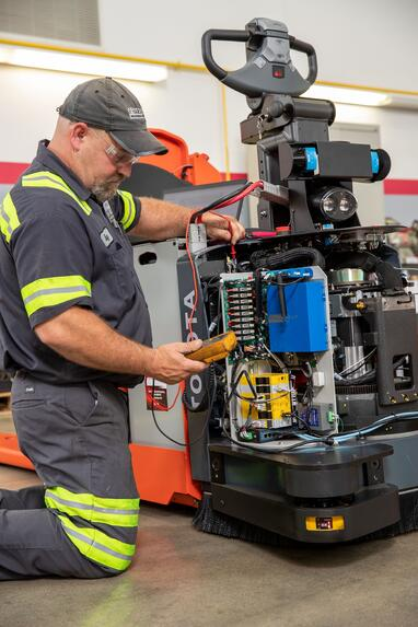 A Toyota forklift should only be trusted to genuine Toyota service.