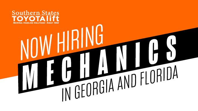 Now Hiring Mechanics in Georgia and Florida