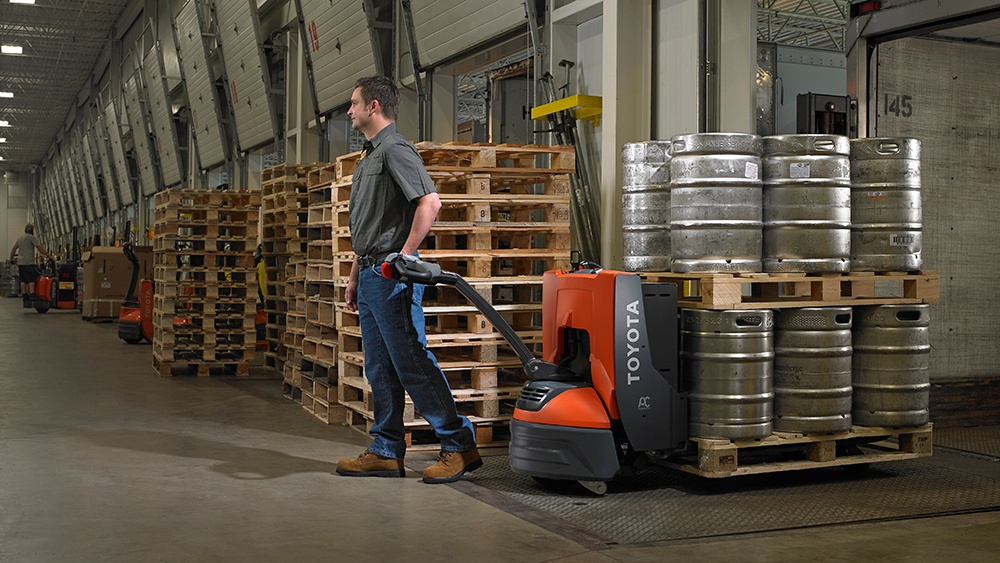 Move beer with a pallet jack