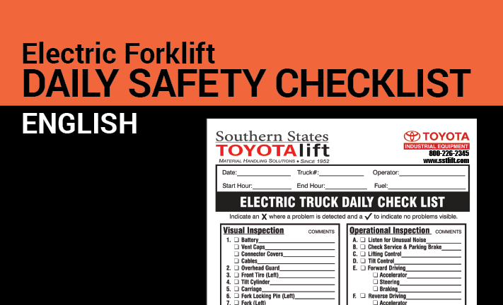 Daily Safety Checklist for Electric Forklifts