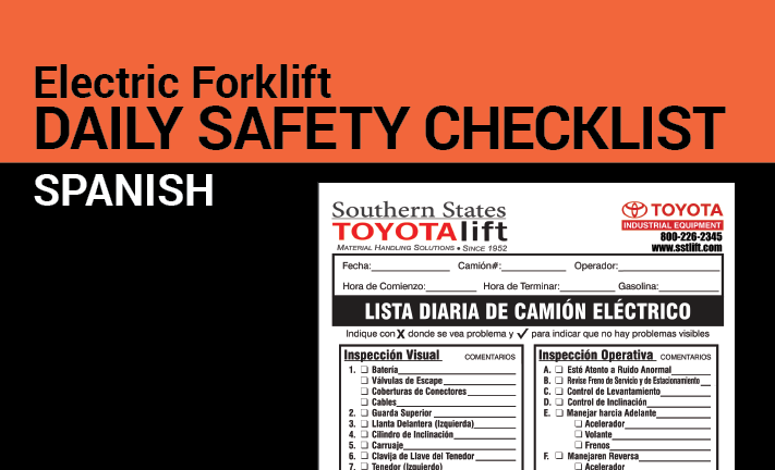 Electric Daily Checklist in Spanish