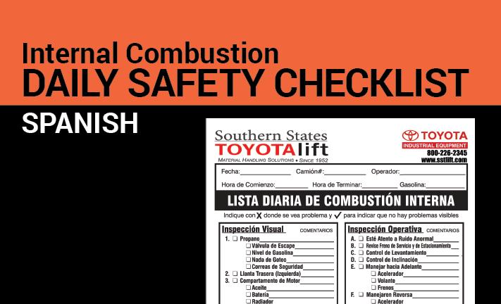Internal Combustion Safety Checklist