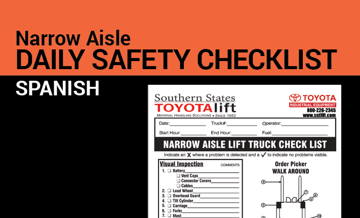 Narrow Aisle Safety Checklist