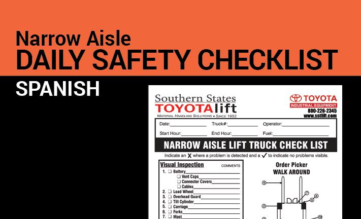 Narrow Aisle Safety Checklist