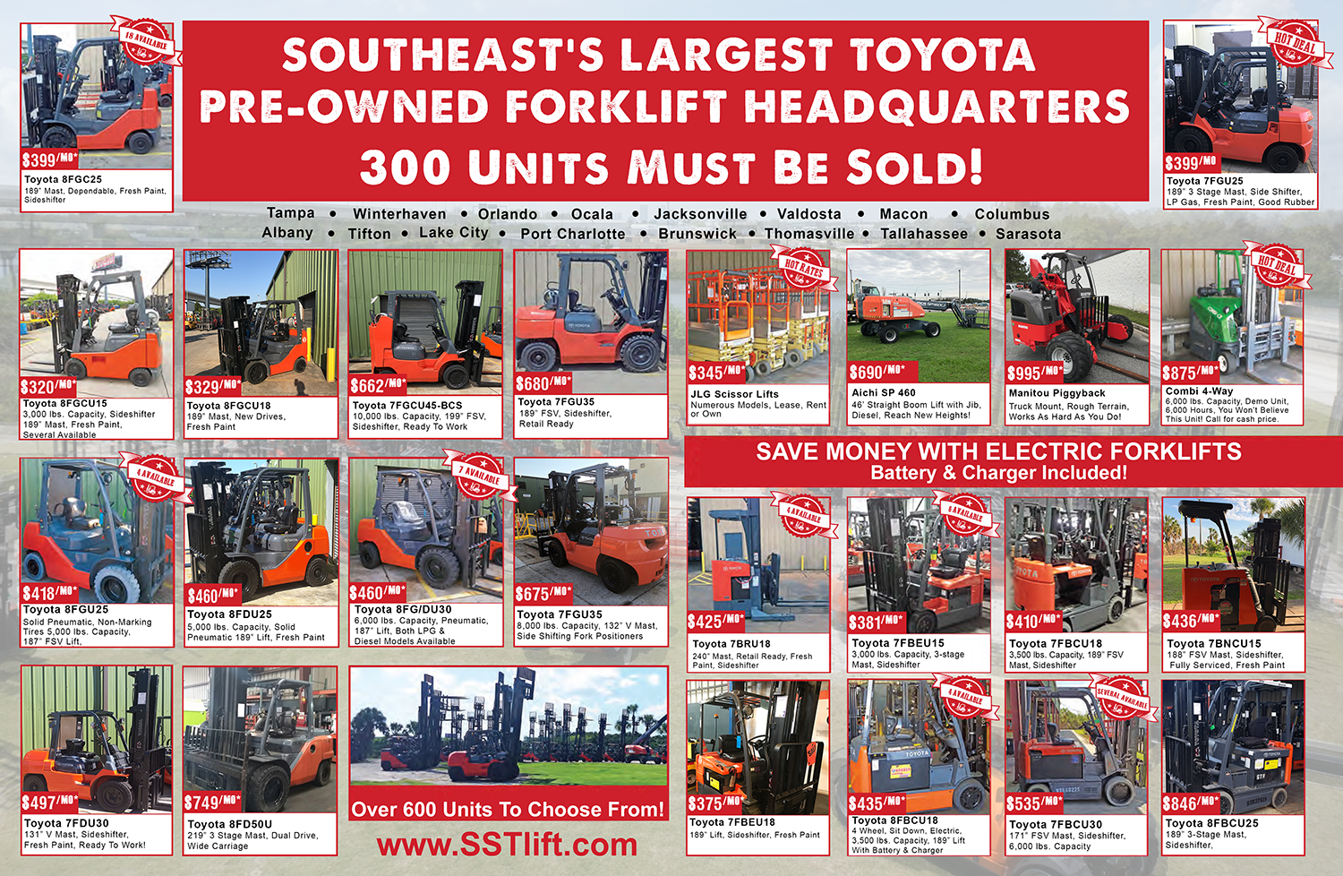 year end forklift sale