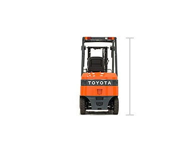 Toyota electric pneumatic forklift specs