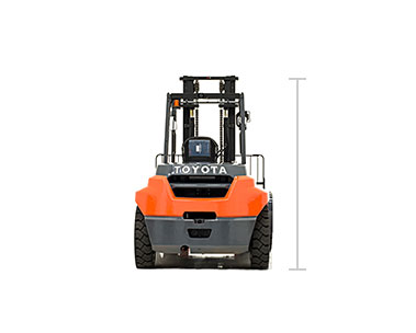 Toyota High Capacity IC Pneumatic forklift model