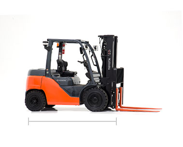 Toyota Mid IC Pneumatic forklift dealer